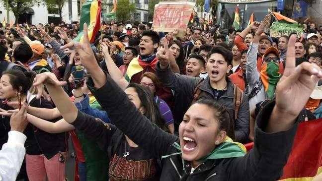 A interrupção de sistema que transmitia os resultados da eleição levou manifestantes às ruas da Bolívia