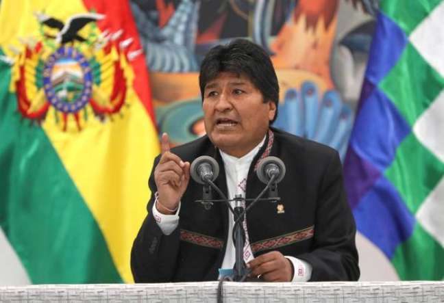 Evo Morales concede coletiva de imprensa em La Paz