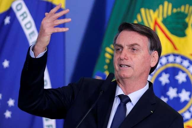 Presidente Jair Bolsonaro durante cerimônia no Palácio do Planalto 04/11/2019 REUTERS/Adriano Machado