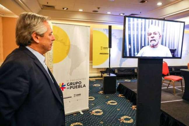 Vídeo de Lula é exibido em reunião do Grupo de Puebla