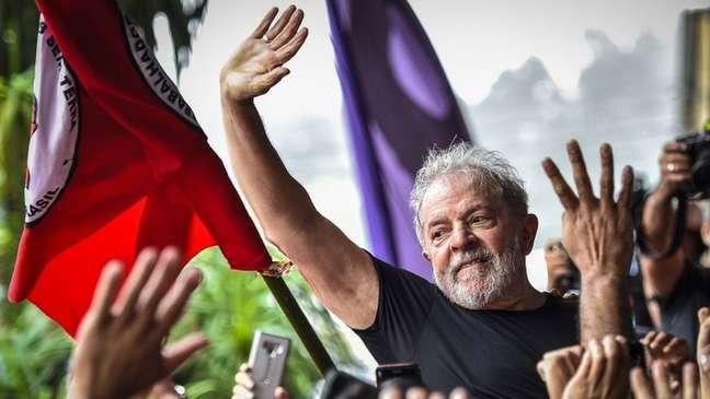 Lula foi solto na sexta-feira após 580 dias preso na Polícia Federal em Curitiba