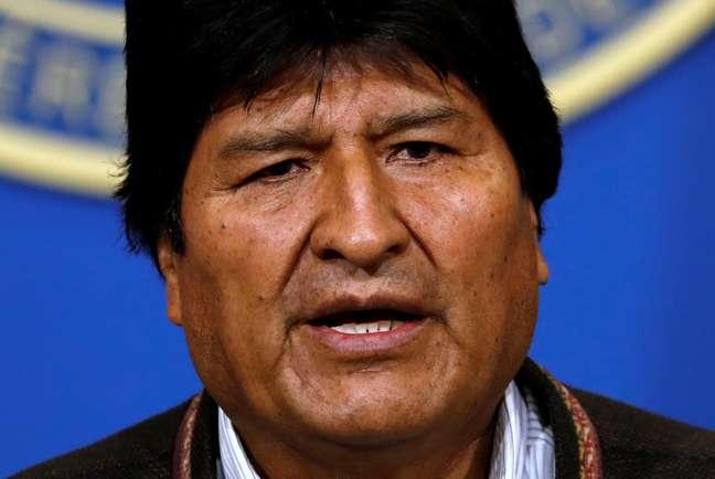 Presidente da Bolívia, Evo Morales, que anunciou sua renúncia após pressões da oposição e de militares 10/11/2019 REUTERS/Carlos Garcia Rawlins