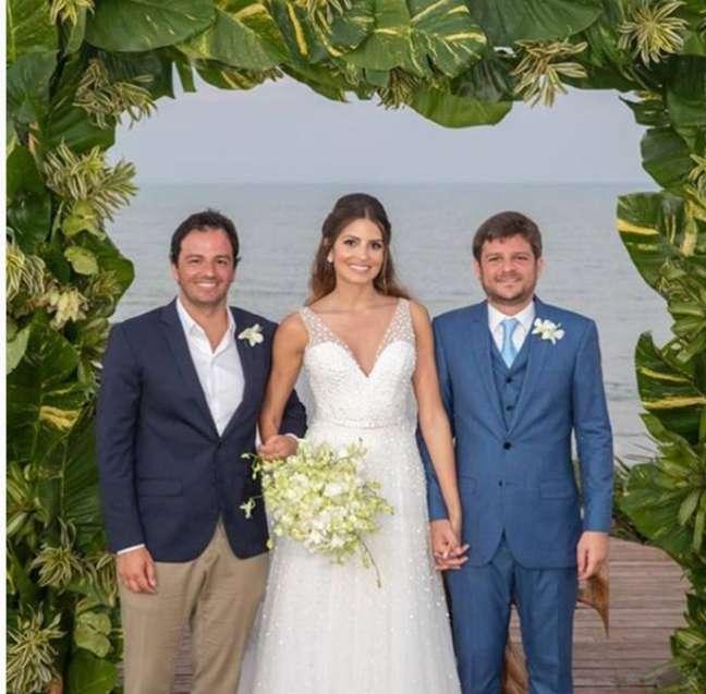 Tuka Rocha no casamento de Maysa Marques e Eduardo Mussi; Maysa e Tuka faleceram após acidente de avião bimotor, Eduardo segue internado