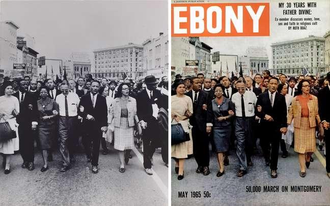 Foto de Moneta Sleet na capa da revista americana Ebony, que influenciou o pensamento de Nei Lopes