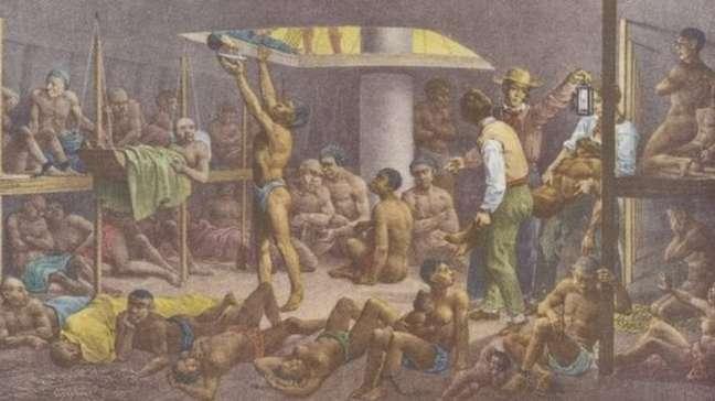 4,8 milhões de africanos foram transportados para o Brasil e vendidos como escravos, ao longo de mais de três séculos. Outros 670 mil morreram no caminho
