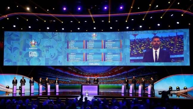 Eurocopa 2020 teve sorteio realizado neste sábado, em Bucareste-ROM, uma das sedes (Foto: Divulgação/UEFA)