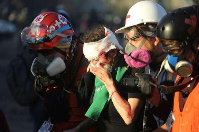 Estabelecimento tinha sido incendiado durante protestos sociais