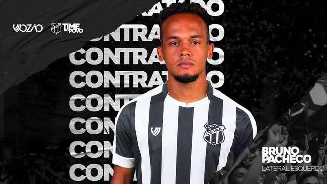 Bruno Pacheco é mais uma contratação do Ceará para a temporada 2020