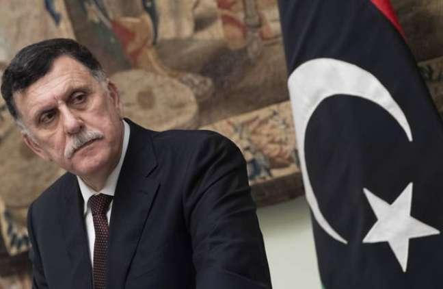 O primeiro-ministro de união nacional da Líbia, Fayez al-Sarraj