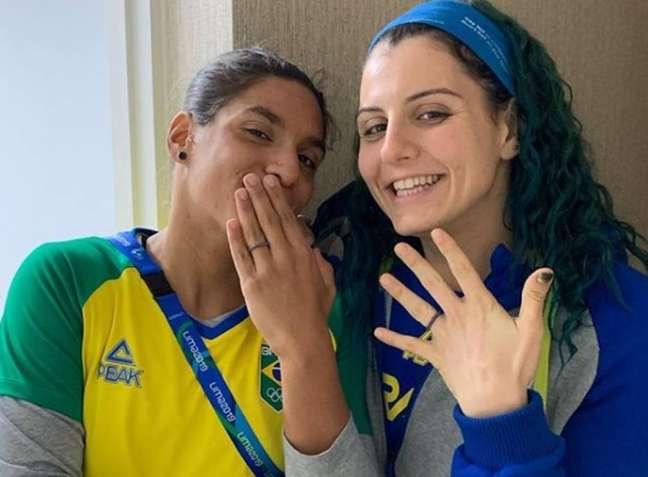 Ana Marcela Cunha e Diana Abla, atletas brasileiras