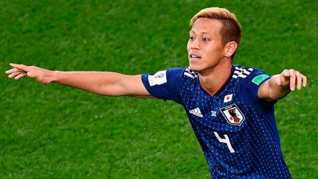 Honda é o quarto maior artilheiro da seleção do Japão (Foto: Anne-Christine Poujoulat/AFP)