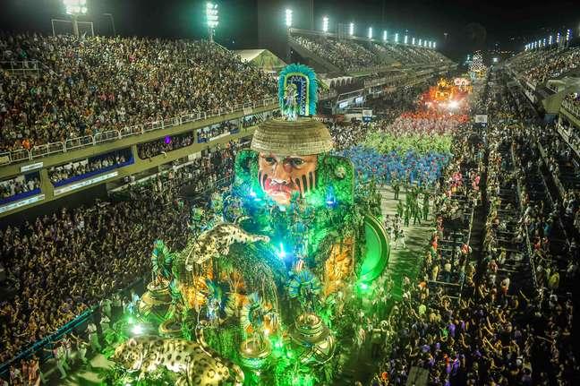 Mangueira, no desfile do título de 2019
