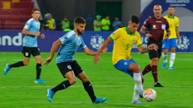 Brasil fica apenas no empate no Pré-Olímpico - Divulgação Twitter @Uruguay