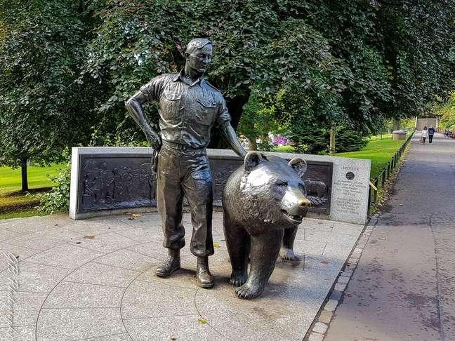 Memorial de Wojtek, em Edimburgo