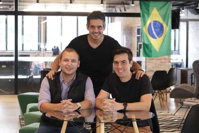 Pedro Roso,Flávio Castaldi eRodrigo Lopes criaram a Docket em 2016