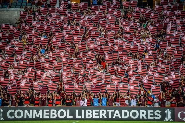 Torcida do Flamengo no Maracanã em partida contra o Peñarol (Foto: Divulgação/Alexandre Vidal)