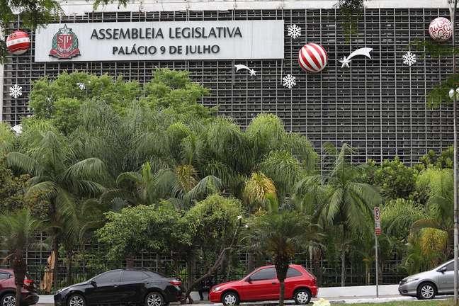 Vista da Alesp em São Paulo (SP)