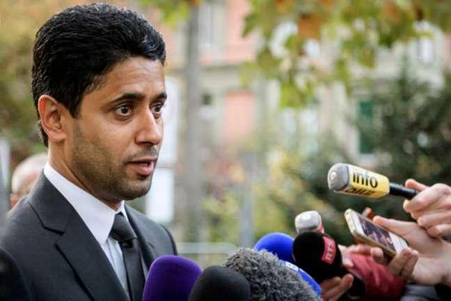 Al-Khelaifi é acusado de subornar Jerome Valcke, ex-secretário-geral da Fifa(Foto: Fabrice Coffrini / AFP)