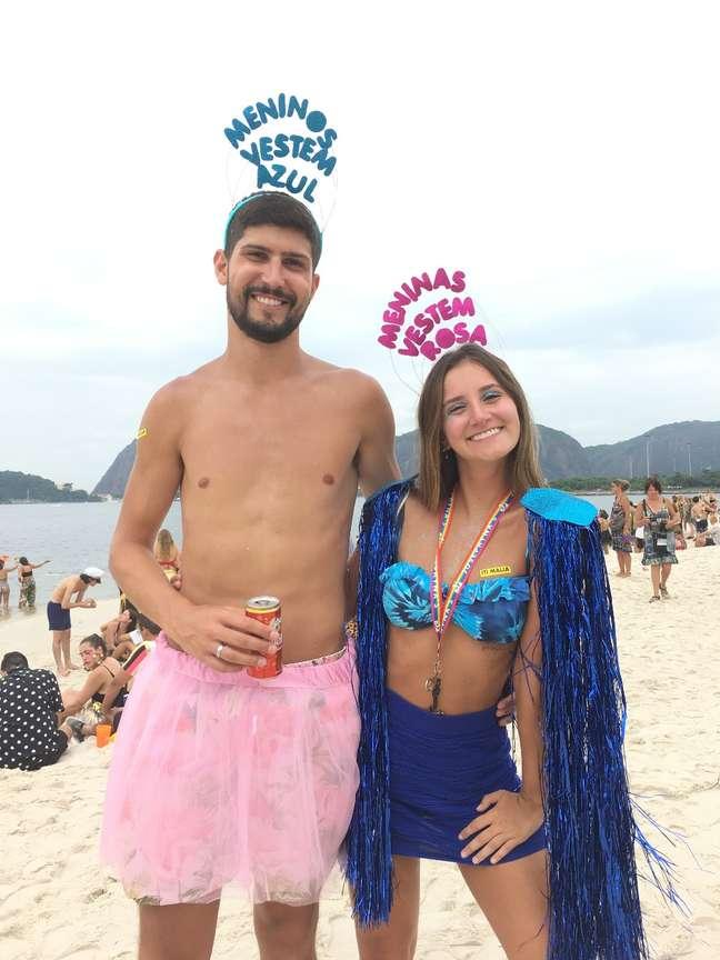 Os gaúchos Lucas e Fabiana passam o Carnaval no Rio já três anos