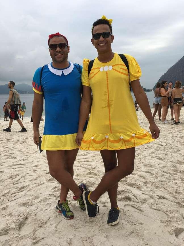 Bruno e Tiago curtem o Carnaval do Rio