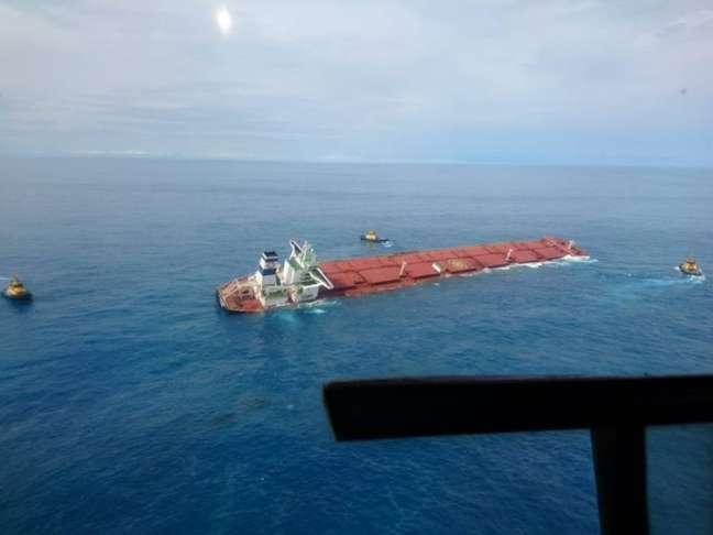 Navio MV Stella Banner com carregamento de minério da Vale adernou a cerca de 100 quilômetros do porto de Itaqui, no Maranhão