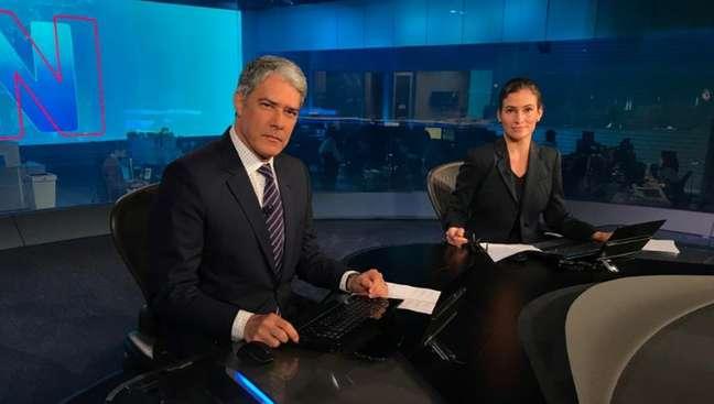 Os âncoras William Bonner e Renata Vasconcellos: milhões de brasileiros recorrem ao JN para se informar sobre a epidemia de covid-19