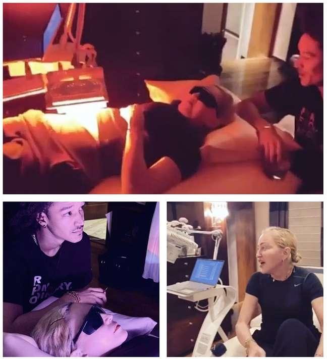 Madonna conta com o apoio do namorado, Ahlamalik Williams, para tratar as lesões causadas por décadas de esforço físico nos palcos
