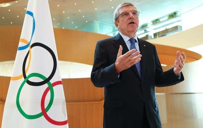 Presidente do Comitê Olímpico Internacional (COI), Thomas Bach 25/03/2020 REUTERS/Denis Balibouse