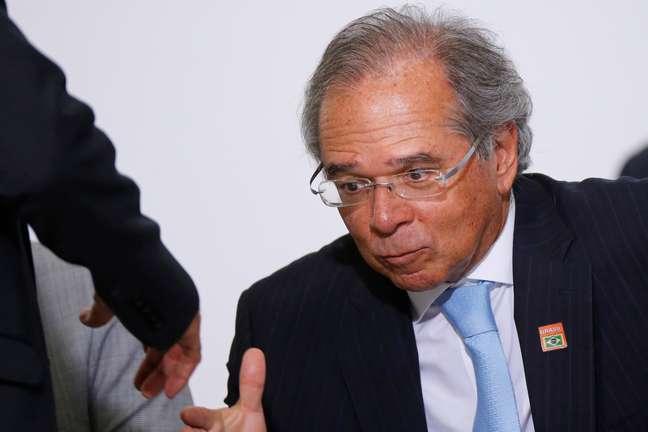 Ministro da Economia, Paulo Guedes, no Palácio do Planalto 04/03/2020 REUTERS/Adriano Machado