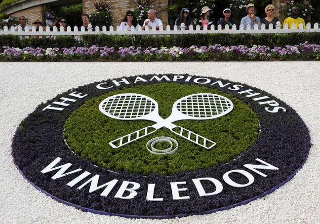 Logo do torneio de Wimbledon  23/06/2003 REUTERS/Toby Melville/