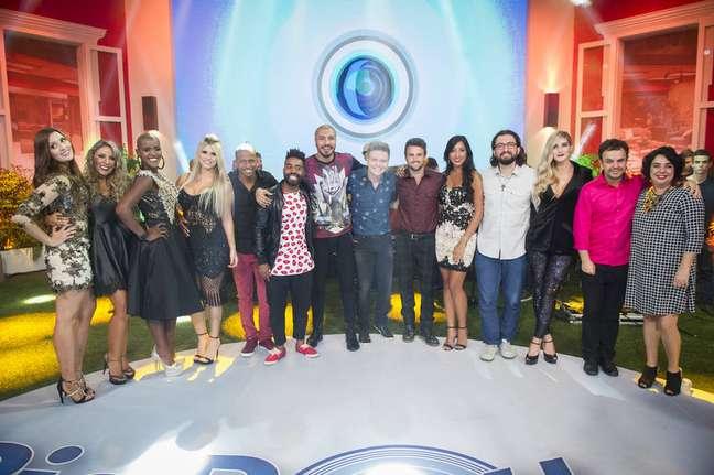 Participantes do 'Big Brother' durante a final do 'BBB 15'.