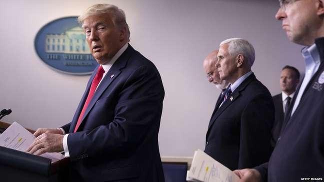 Trump tem participado de coletivas de imprensa sobre o coronavírus da Casa Branca