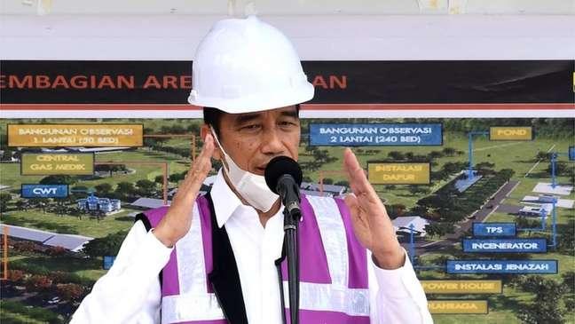 O presidente da Indonésia, Joko Widodo, admitiu que não divulgou toda a informação que tinha sobre o covid-19 no país para não gerar pânico