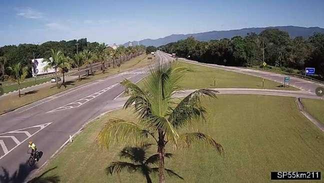 Rodovia Rio-Santos, trecho entre Bertioga e São Sebastião.