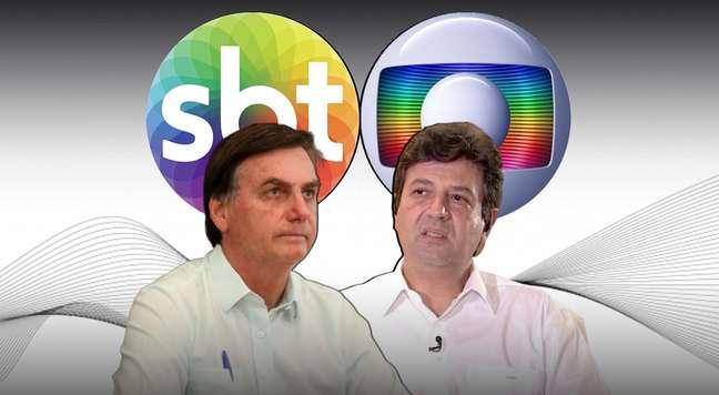 Bolsonaro e Mandetta polarizaram as atenções no horário nobre da televisão brasileira no domingo