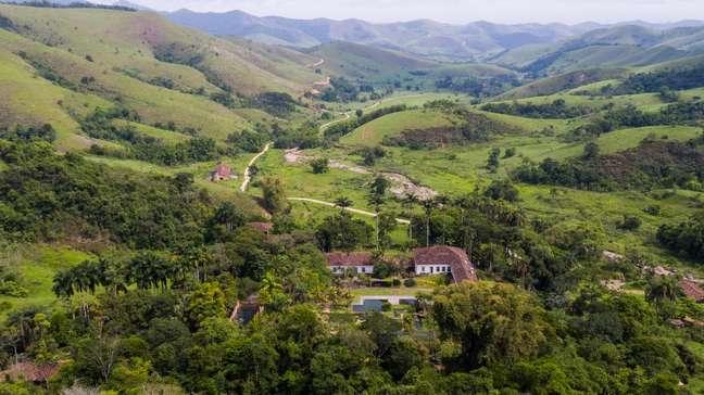 Serra da Bocaina, na metade do caminho entre São Paulo e Rio de Janeiro.