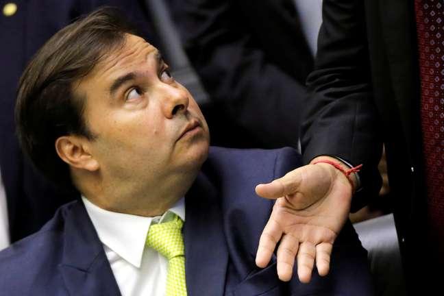 Rodrigo Maia durante sessão no Congresso 3/2/2018 REUTERS/Adriano Machado