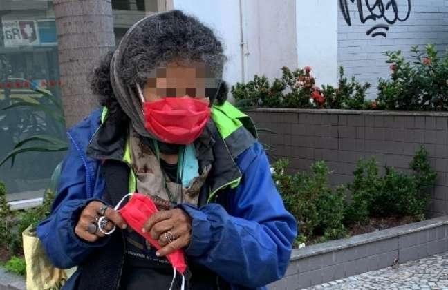 Dona Luzinete passou a ser acolhida após mutirão no Jardim Botânico, no Rio