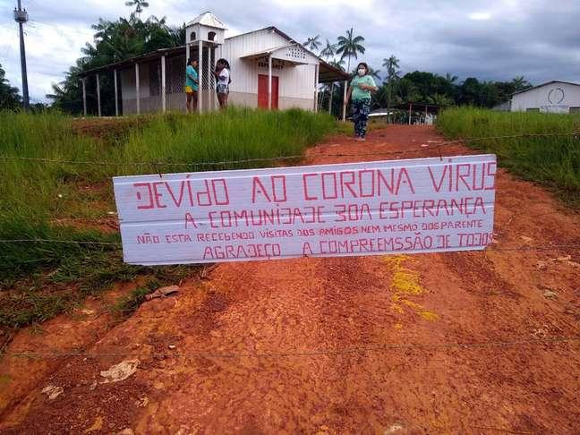 Na comunidade tukano de Boa Esperança, em São Gabriel da Cachoeira, os índios decidiram se isolar