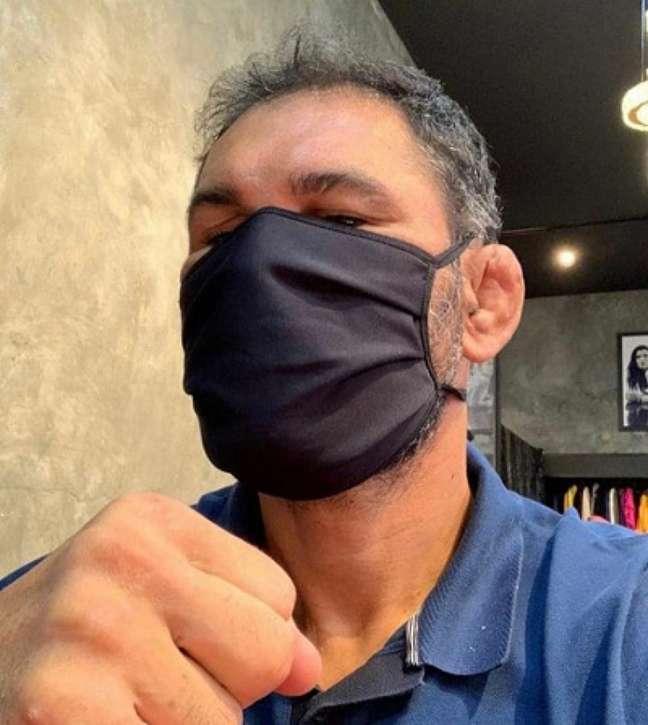 Rodrigo Minotauro falou sobre sua rotina em casa durante a quarentena (Foto: Reprodução)