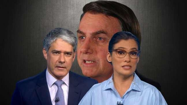 Jair Bolsonaro fez novo ataque contra a Globo e recebeu resposta incisiva no Jornal Nacional