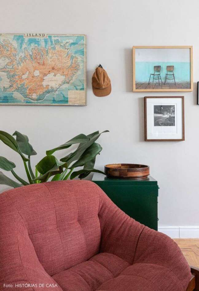 16. Planta pacová na sala moderna – Via:Histórias de Casa