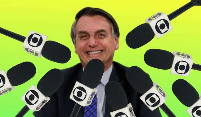Bolsonaro vive em clima de guerra permanente contra a emissora de TV mais influente do País