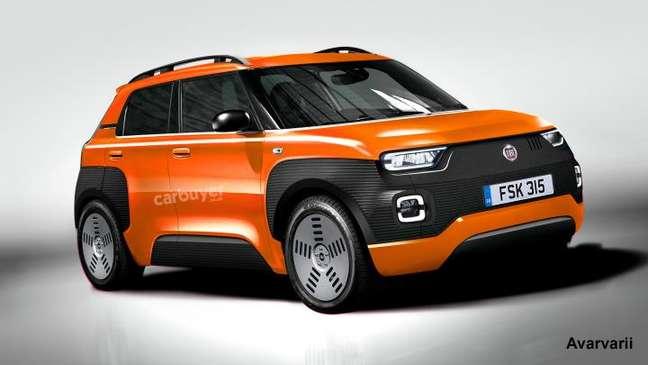 Projeção do novo Fiat Panda: um caminho para o novo Uno nacional.