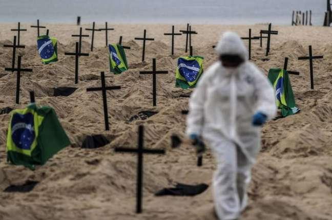 Protesto contra governo realizado no Rio de Janeiro