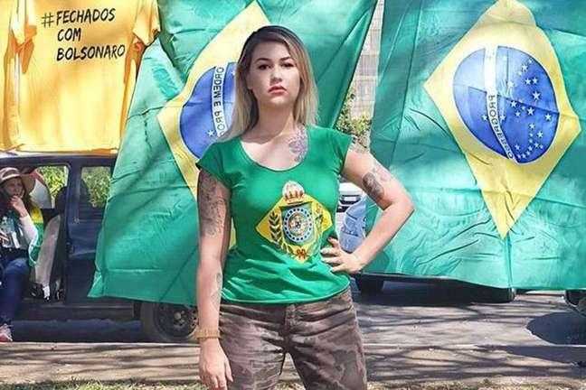 A ativista bolsonarista Sara Winter.