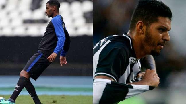 Helerson e Igor Cássio em ação pelo Botafogo (Foto: Vitor Silva/Botafogo)