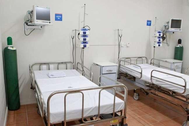 Leito do Hospital Riverside, em Lauro de Freitas, na Grande Salvador,