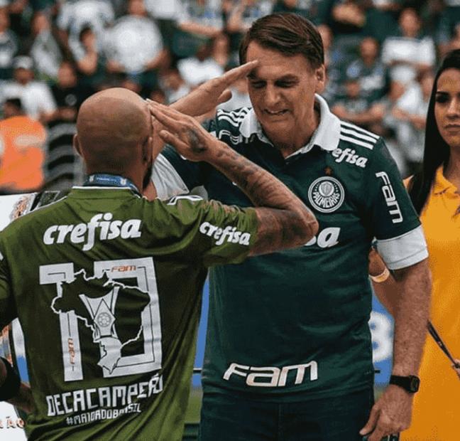 Felipe Melo pediu liberação do treino desta quarta-feira para ir a solenidade de Bolsonaro (Reprodução/Instagram)