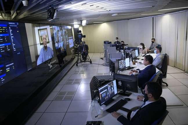 O senador Otto Alencar (PSD-BA) faz pronunciamento porvideoconferência sem sessão remota da Casa.